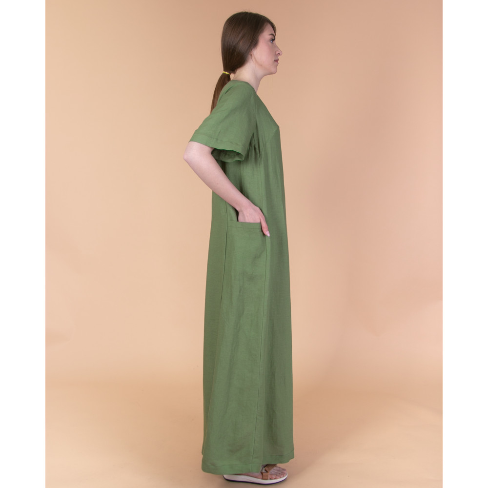 Сукня максі зелена