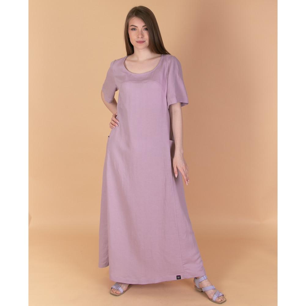 Сукня максі рожева