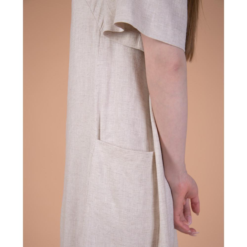 Сукня максі молочна